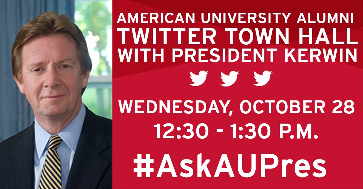 Thumbnail for #AskAUPres Twitter Town Hall - October, 2015