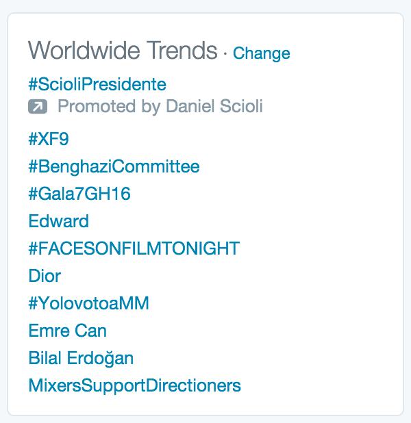 #YolovotoaMM es TT Mundial. Todos queremos el Cambio en la Argentina https://t.co/33noN4hKcd