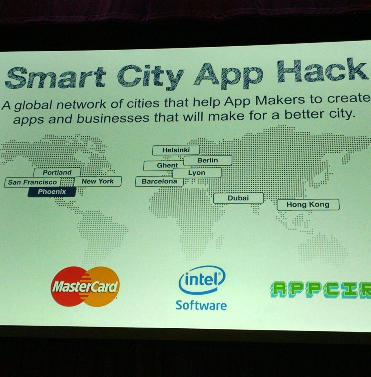 Phoenix is one of 4 US cities participating in the global Smart City App Hack. #Yesphx indeed! #SCAH_PHOENIX https://t.co/H1VAQzQ7Jm