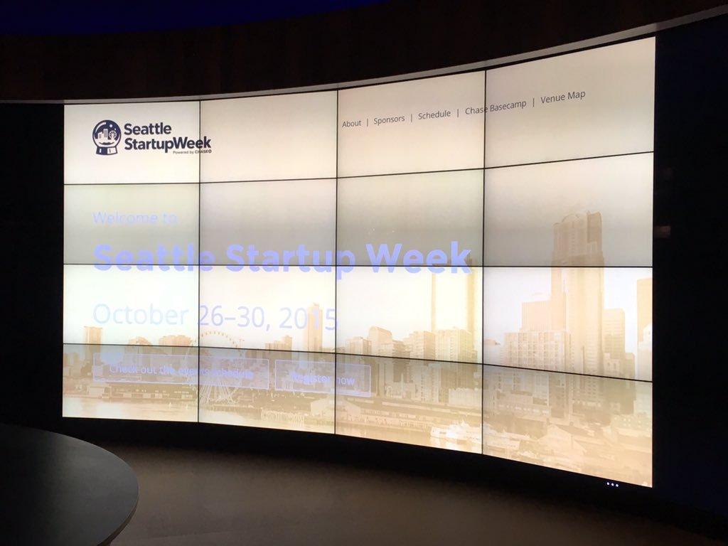 The video wall for #StartupWeekSEA at the Emerge from Corporate to Startup event! https://t.co/sEb79jPutm https://t.co/sPlhcIMmHl