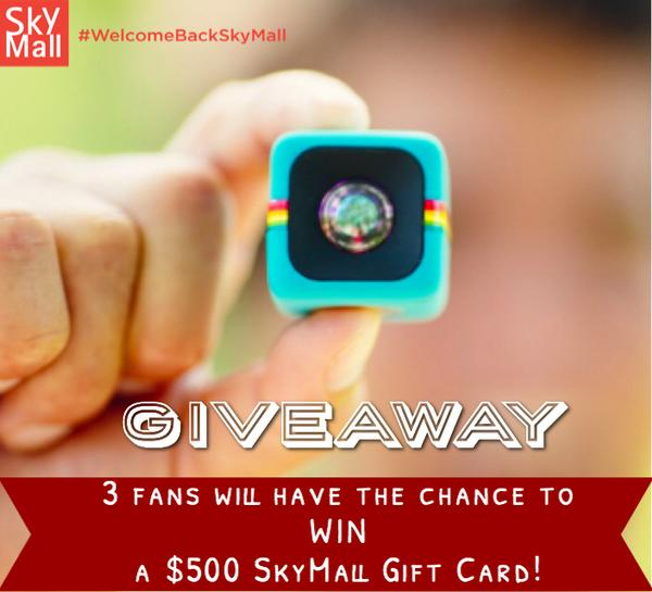 GIVEAWAY! For a chance to WIN a $500 SkyMall Gift Card..