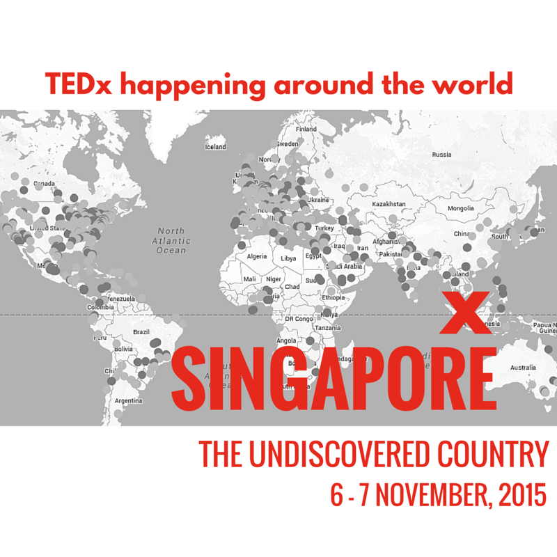 Ready to put #Singapore on the world map? #TEDxSingapore #UndiscoveredSG Grab your tix NOW: https://t.co/GysfuT5Czd https://t.co/HuNfaUSLYz