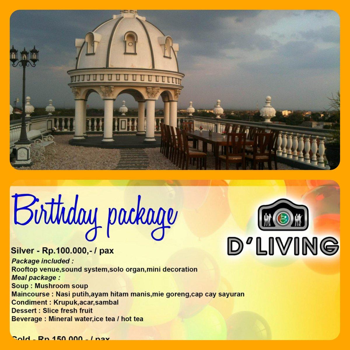 D Living dlivingresto on paket ultah venue roof top keren jelas d
