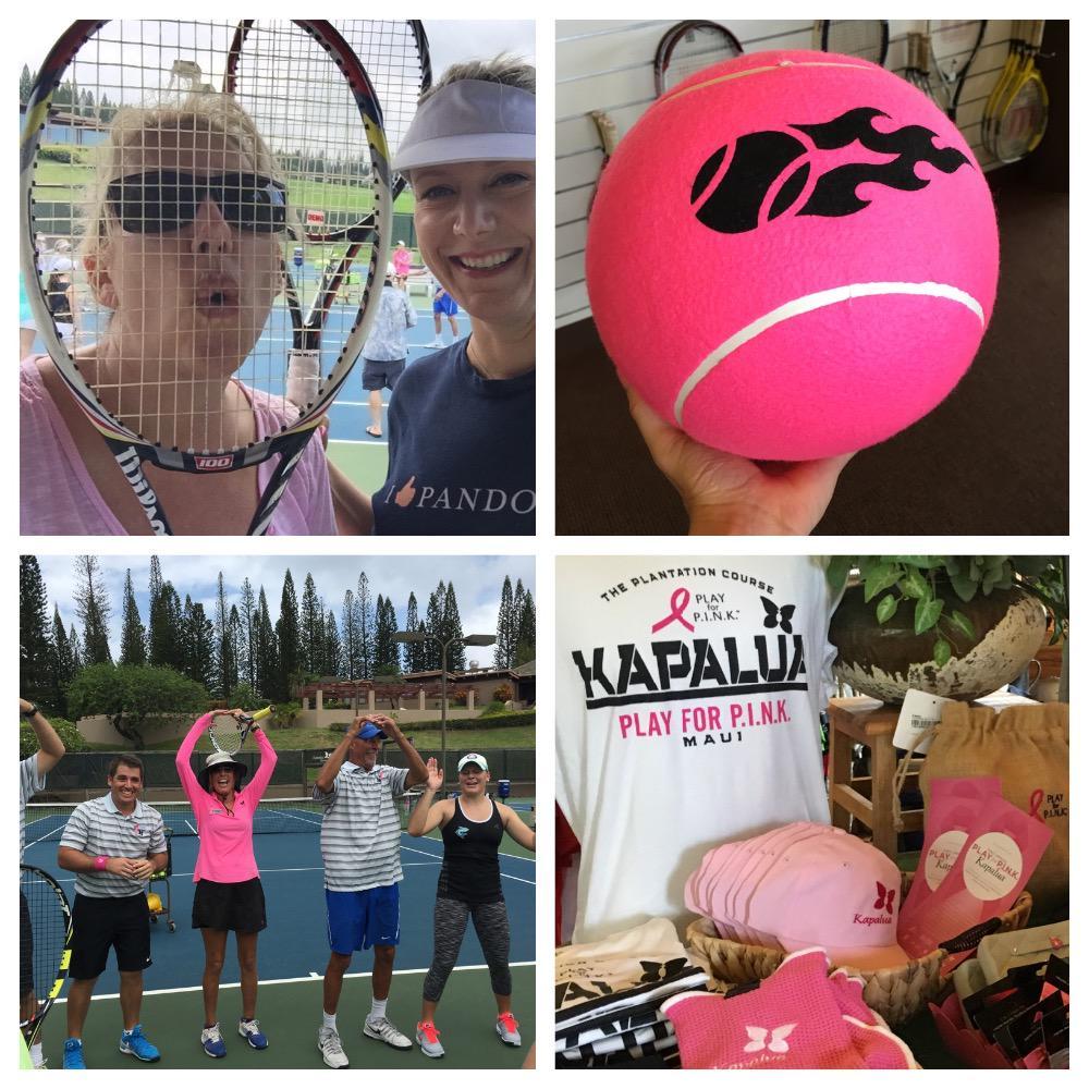 Such a blast today! #TennisClinic #pfpkapalua for @bcrfcure #betheend #MauiSS