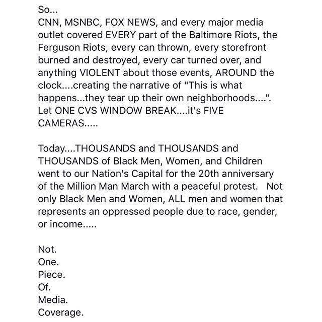 @cnn @msnbc RT @FemaleTupac32: Keep spreading this ! #MillionManMarch #JusticeOrElse http://t.co/NZWDLENNcJ