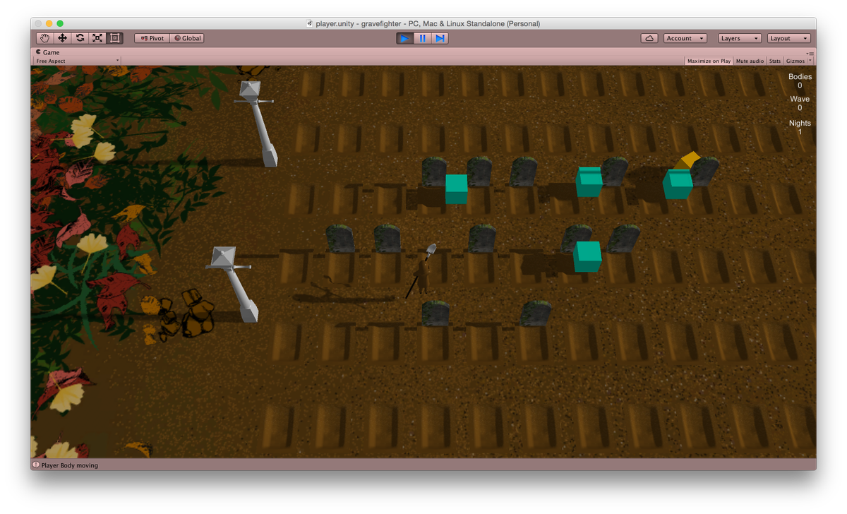 Digging some graves. The beginnings of a game! #seattleGJ #screenshotsaturday #indiedev http://t.co/bjSLnvkC2A