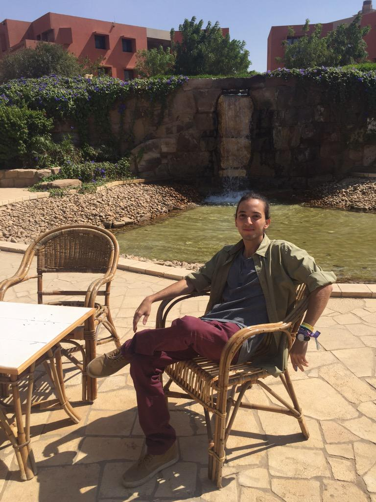 Ahmed Refai's favorite spot on campus: Arab African International Bank Waterfall #JRMC2202 #JRLWeb http://t.co/uO9h0L13ho