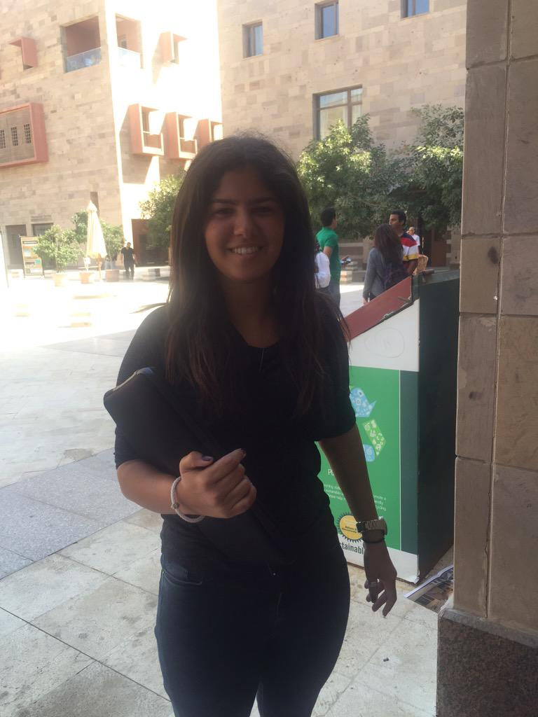Junior in Integrated Marketing Communication, @AminaElKhadem uses social media to gather news. #JRMC2202 #JRLWeb http://t.co/AWLsAQw5c0