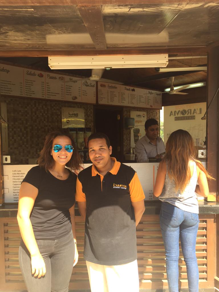"L'aroma: Habiba Ibrahim's favorite spot on campus. ""I love their coffee, and calm seated area."" #JRMC2202 #JRLWeb http://t.co/kIDzRSeghh"