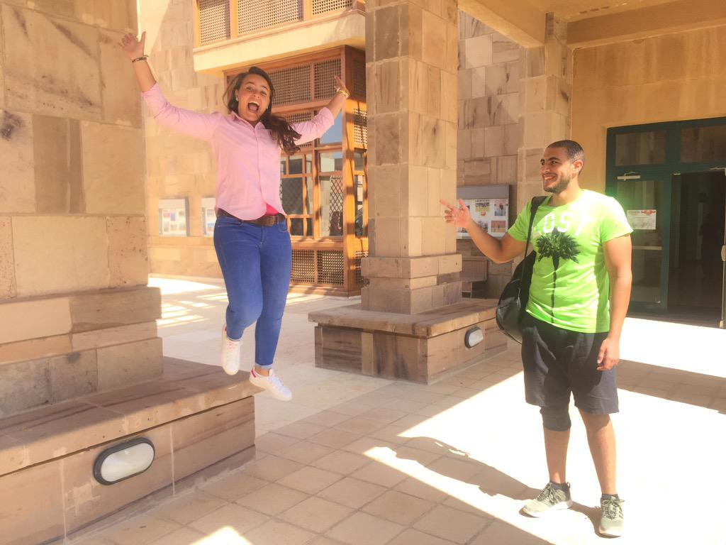 """Best part of AUC spirit, is feeling like grown-ups and acting like children,"" said Donia Aly. #JRMC2202 #JRLWeb http://t.co/exZN0OfUGH"