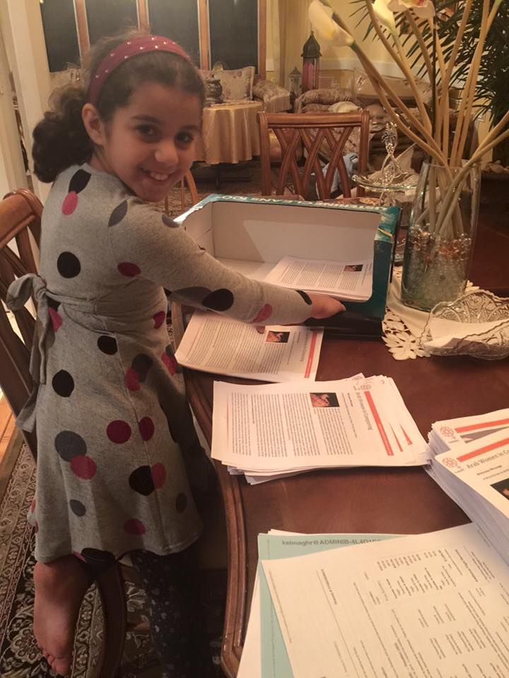 Zayneb, our youngest #ArabWIC member is helping prepping for our booth at #GHC15 @ghc , thank you @kaoutarTech ;) http://t.co/5pMw3HvzSa