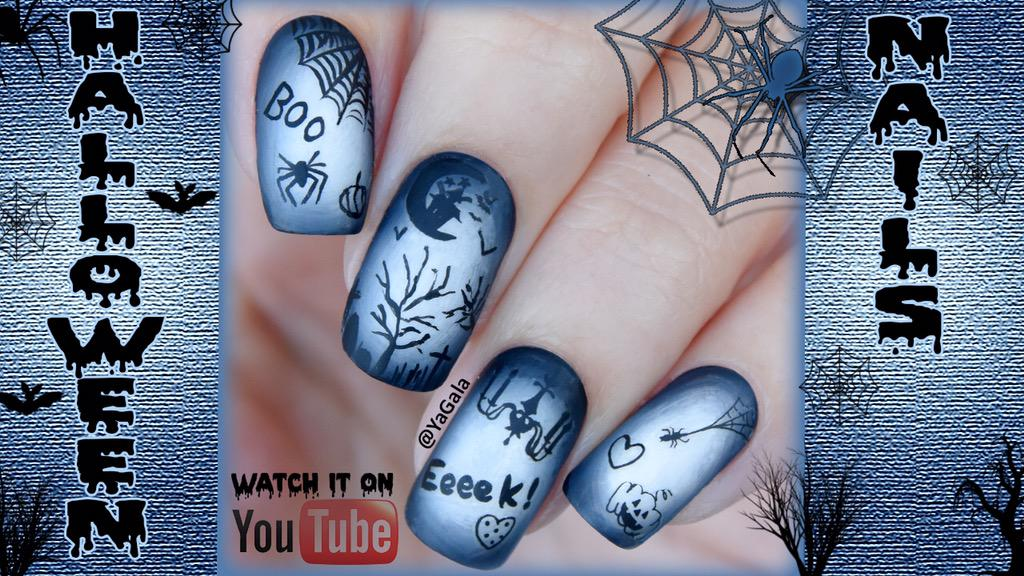 Yagala On Twitter Halloween Nail Art Watch It On My Youtube