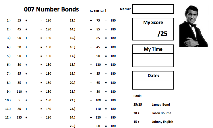 how to learn number bonds to 20