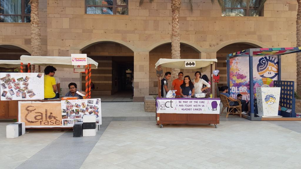 According to Amr El Tanawy, electronics engineering sophomore, there are 50 clubs on campus.#JRMC2202 #JRLWEB #AUC http://t.co/gmn8PUqwEG