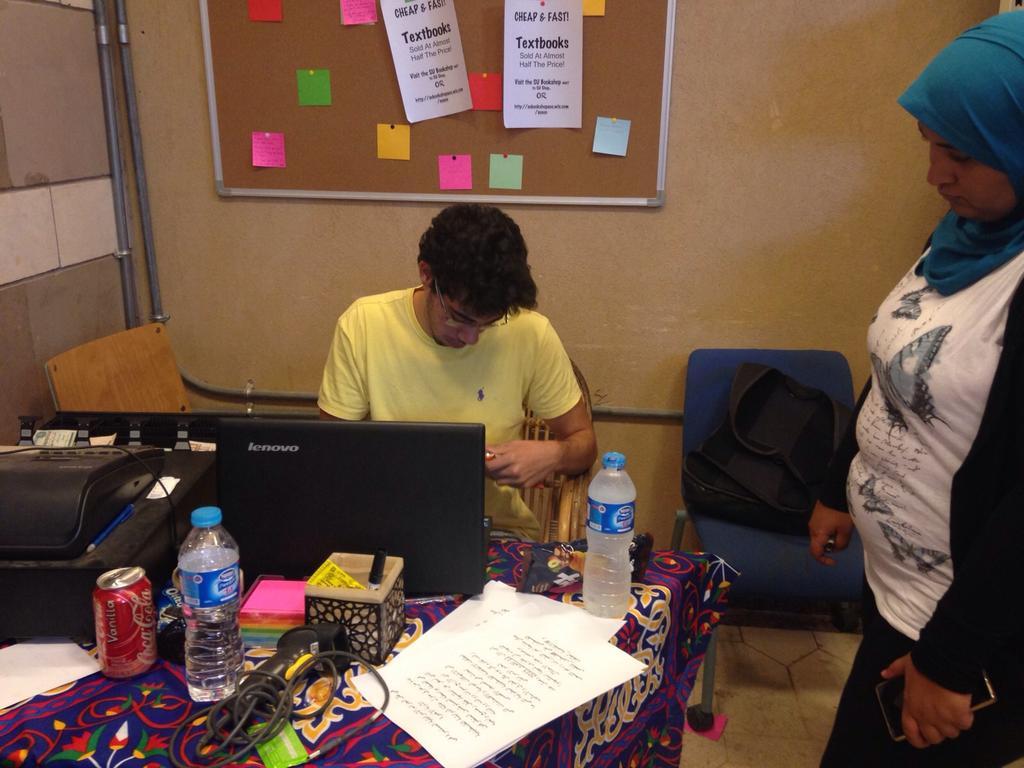 SU member working at the SU market to help fellow students. #JRMC2202 #JRLWeb #schoolspirit #TSH #AUC http://t.co/dbZefmV7xV