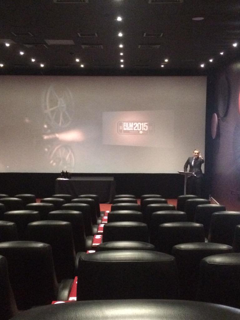 And our host @PeterDCooper is just practicing his lines ahead of the screening #FilmNorthants http://t.co/ykaIziUBnw
