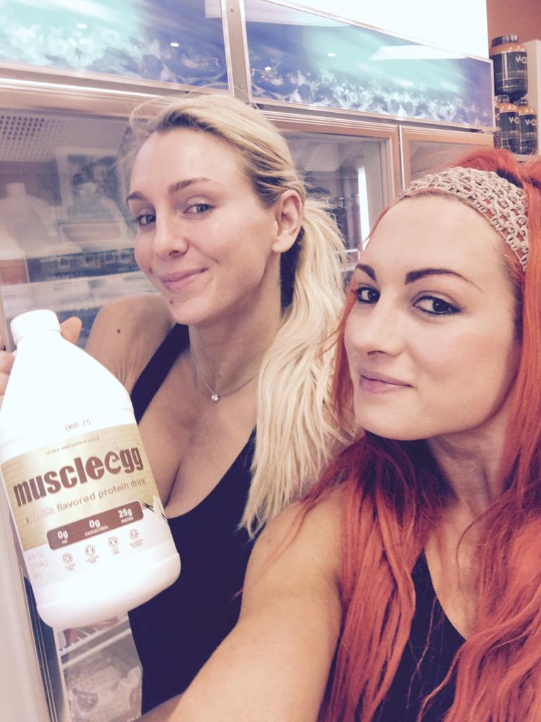 "Becky Lynch on Twitter: ""We're just a couple of @MuscleEgg heads ..."