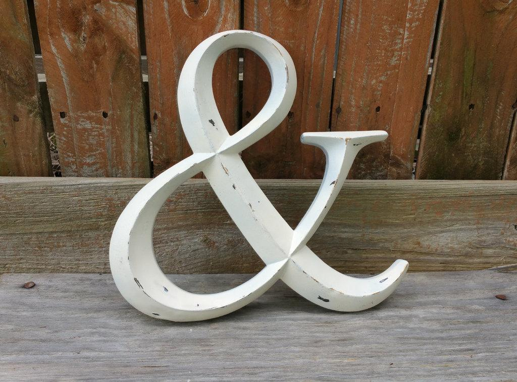 Letteredwhimsy On Twitter Distressed Ampersand Sign Metal Bronze Letters Wall Decor