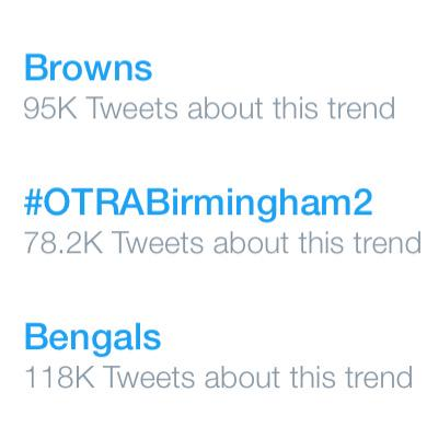 ONE DIRECTION FANS...you're trending our arena show worldwide! #OTRABirmingham2 #1DBham http://t.co/8P6V5KjKlQ