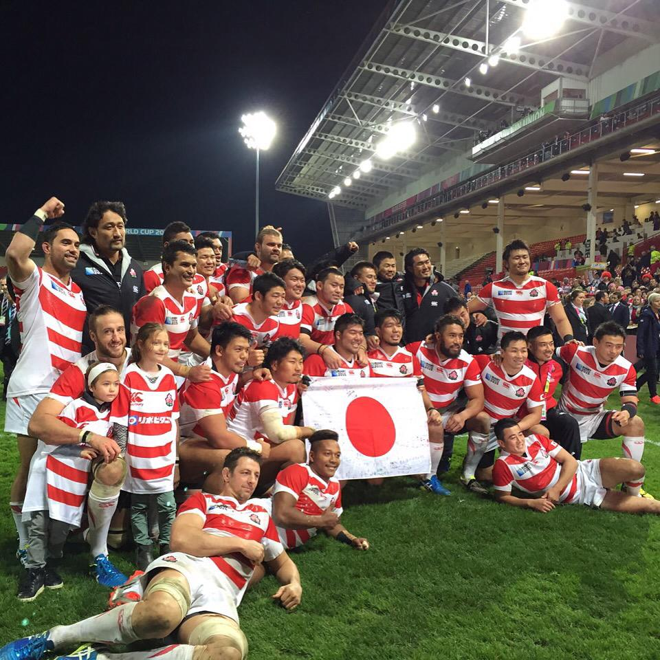 Cant find any word...Cant believe what weve done!!Special 4 years!!言葉が見つからない。最高の4年間!#JapanWay #RWC2015 pic.twitter.com/BvfXLNZPfc