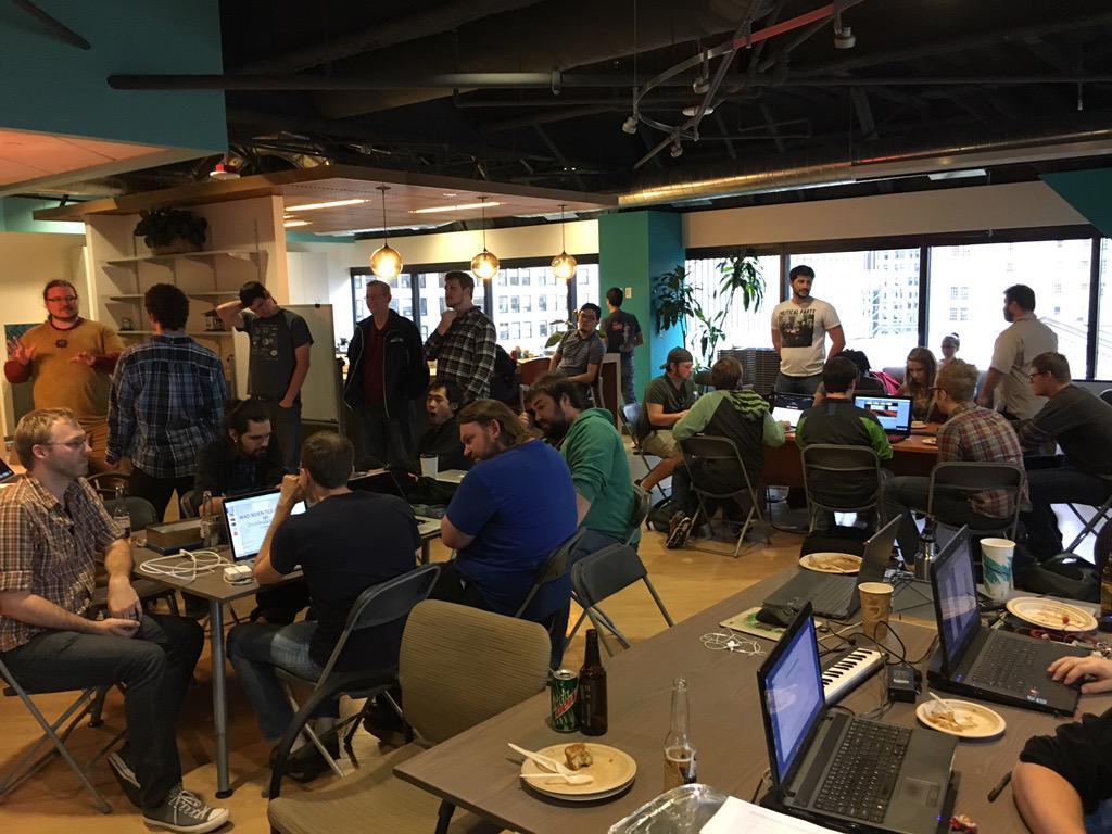 Presentation time at #SeattleGJ #gamedev #indiedev http://t.co/kk4vI59T7C