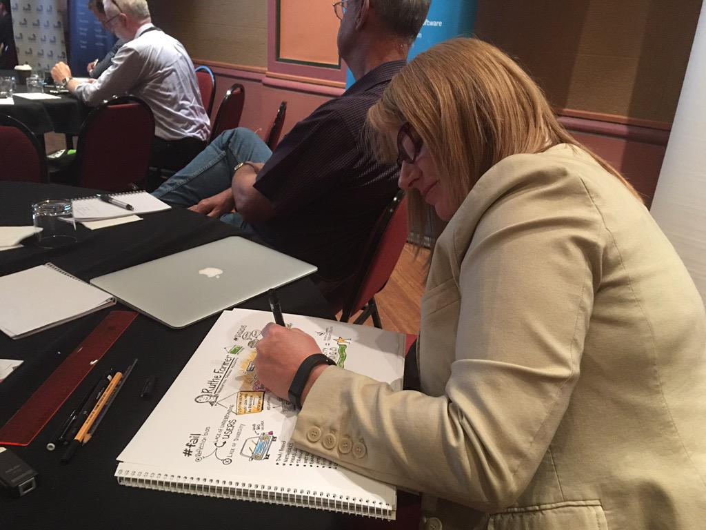 Check out @PennyRedhead ace #DiG2015 illustrator working her magic