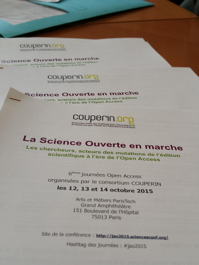 Thumbnail for #JAO2015 La Science ouverte en marche (12 octobre 2015)