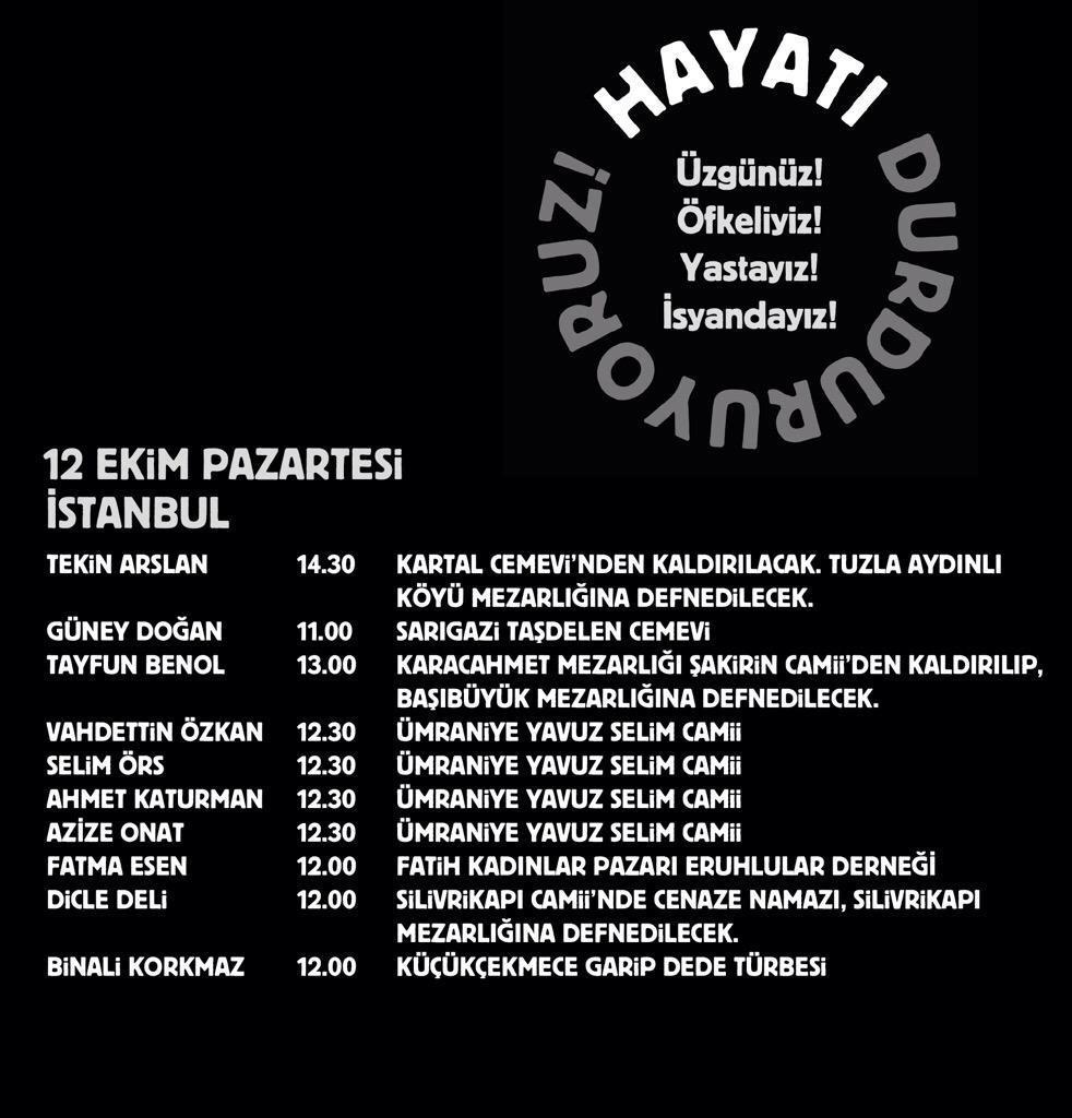 Thumbnail for Turkey mourns - Türkiye Barış Şehitlerini Anıyor. #HayatıDurduruyoruz