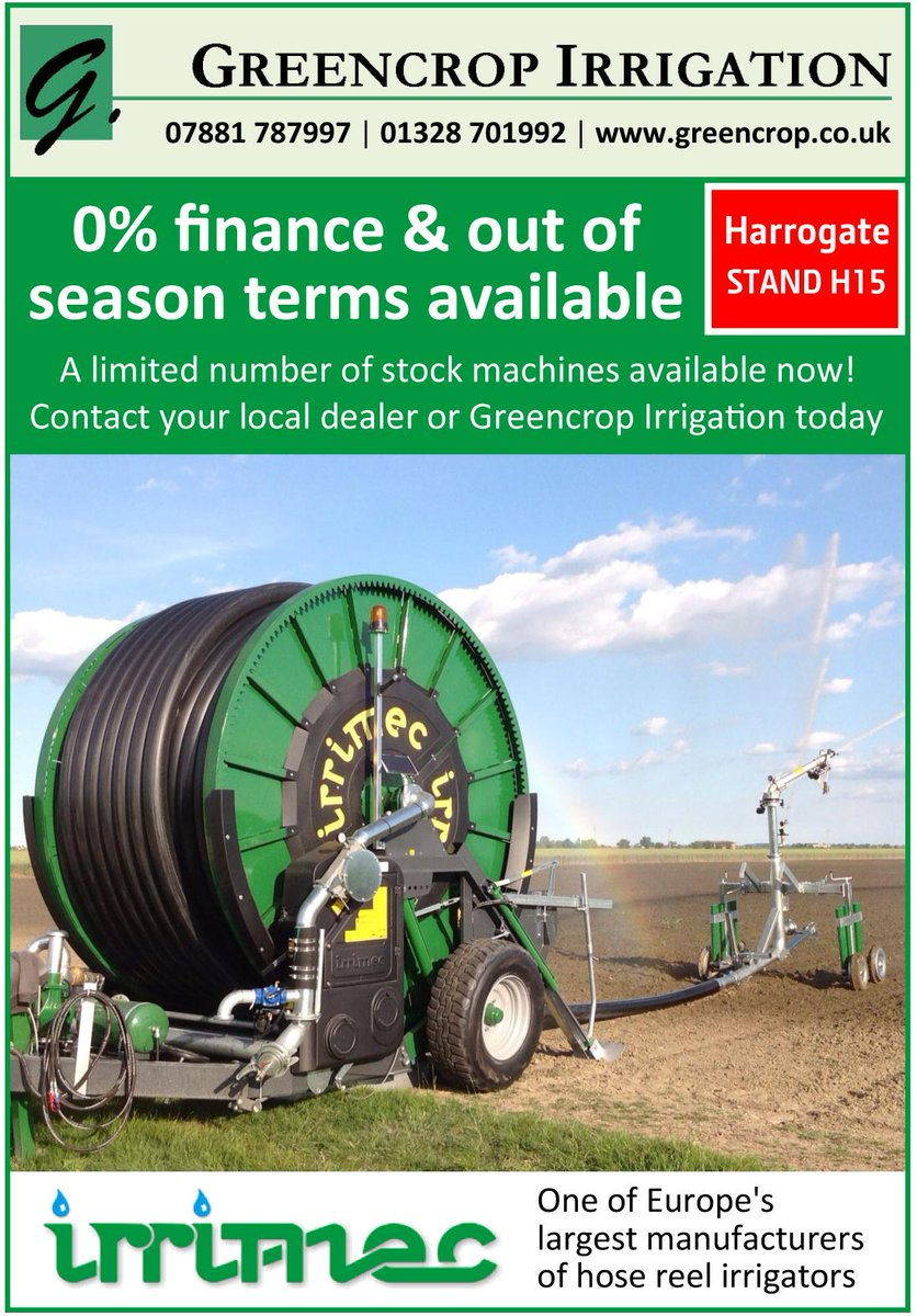 0% finance & out of season terms available on stock #Irrimec #irrigators! Contact Howard Chantry on 07881 787997.