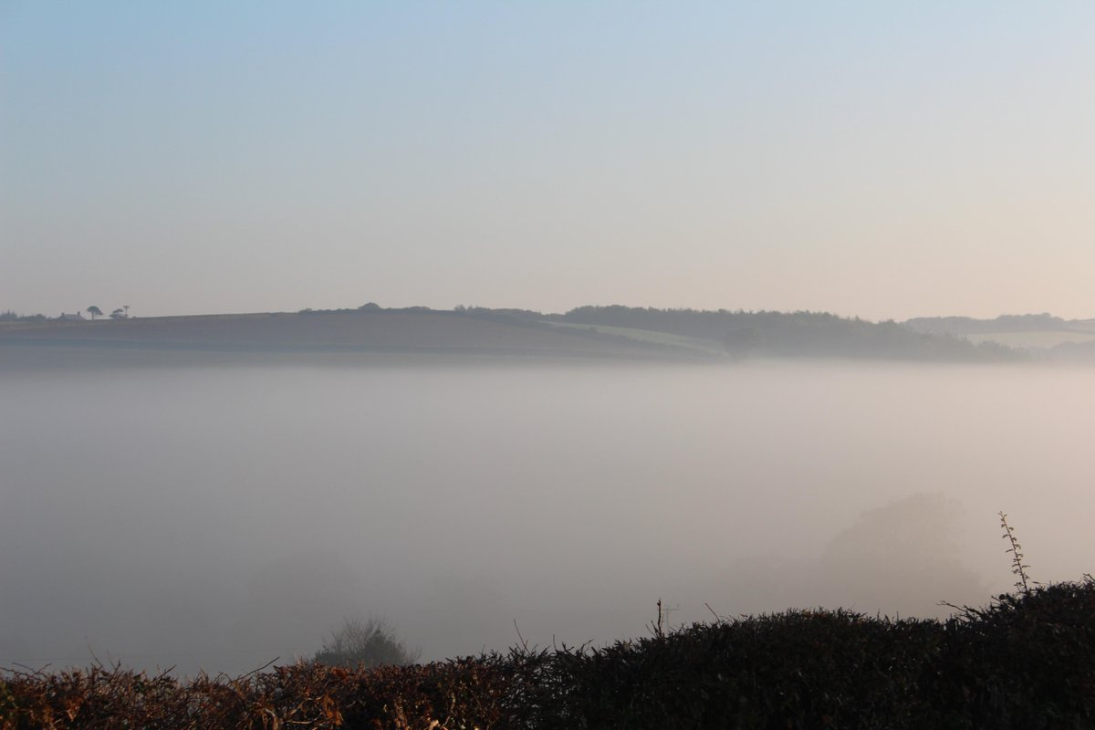 Thick fog on the doorstep here in #ndevon this morning. @RHS_Rosemoor @KPCreativeComms @Devon_Hour #fog