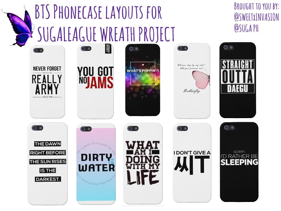 Sweetest Invasion ud83cudf38 on Twitter: u0026quot;#BTS Phone Case for @SugaLeague ...