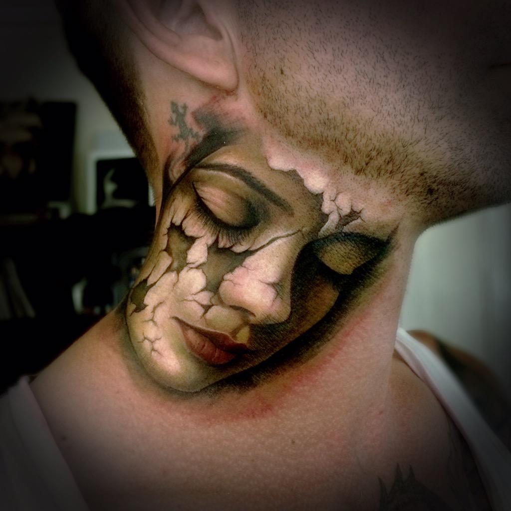 Sam barber sambarbertattoo twitter for Barber neck tattoos