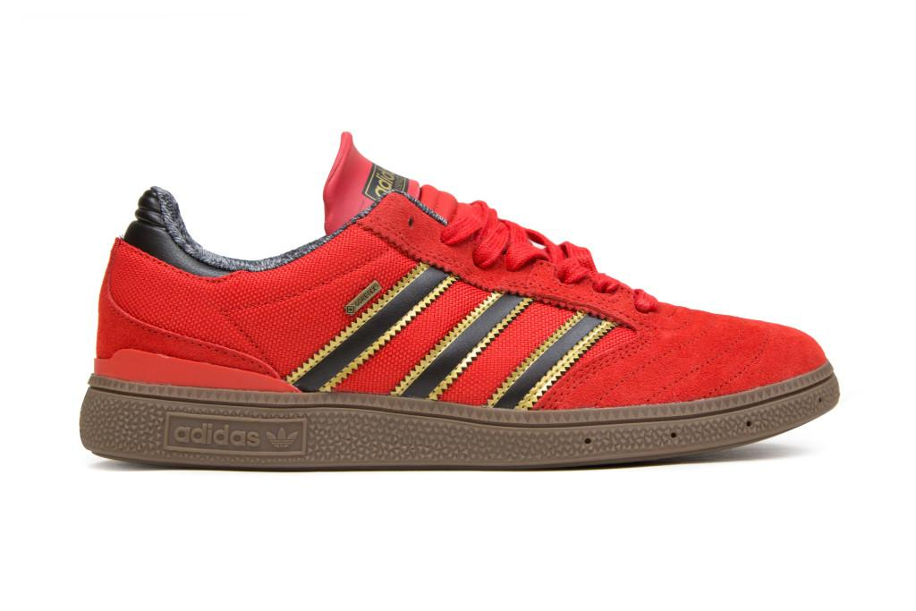 big sale 73f2e ff6fb be the freshest dude at the skatepark with this red adidas busenitz pro  gore tex