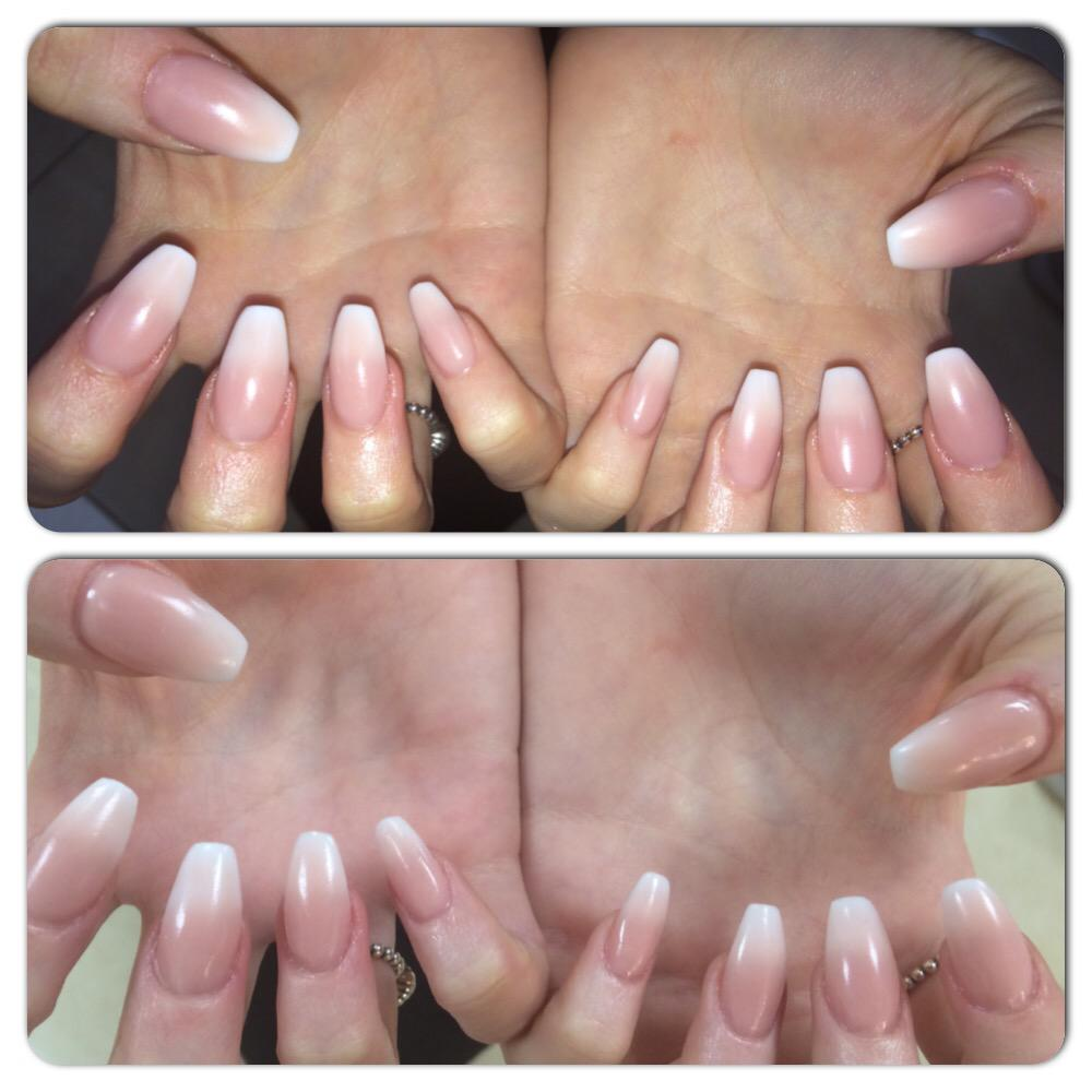 Aesthetic Beauty On Twitter Gorgeous Coffin Shape Ombré Nails On