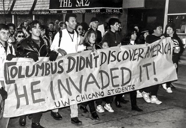 """Columbus didn't discover America HE INVADED IT!"""