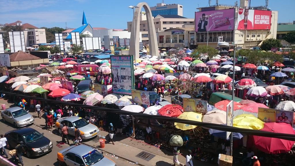 Railings park , Accra market, things to do in Accra