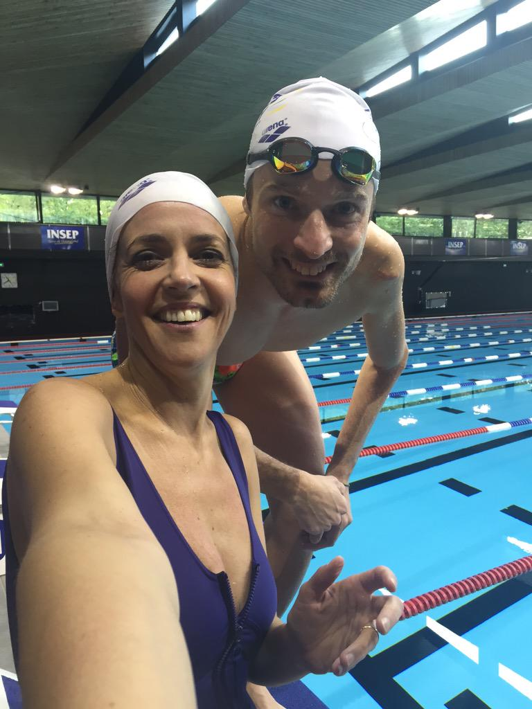 Nathalie renoux on twitter tournage l 39 insep avec for Piscine olympique