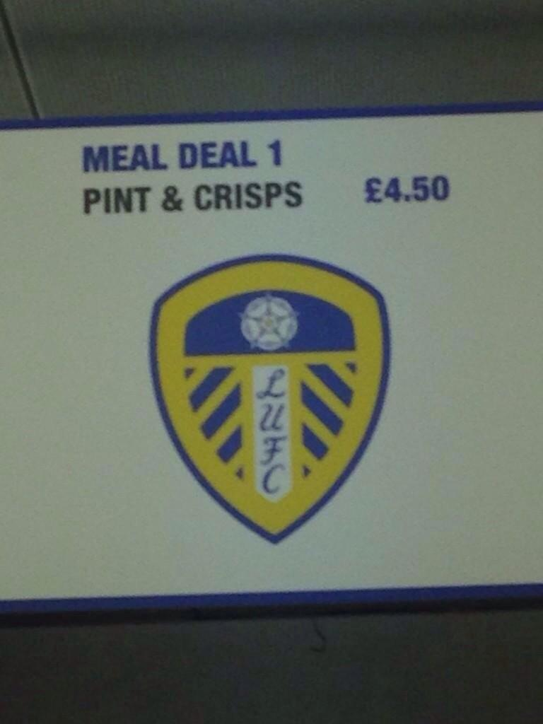 Fingers crossed Leeds United are still offering this fantastic meal deal on Saturday.... http://t.co/QXHufCphhu
