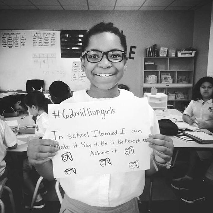 Little girls with dreams become women with vision! #62MillionGirls #LetGirlsLearn #IamGirlRising http://t.co/roTMoIph5J