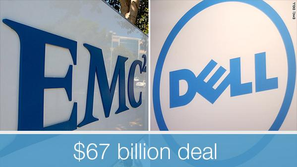 The biggest tech deal ever: #Dell buys #EMC for $67 billion http://t.co/fxDEy90LjR via @CNNMoney