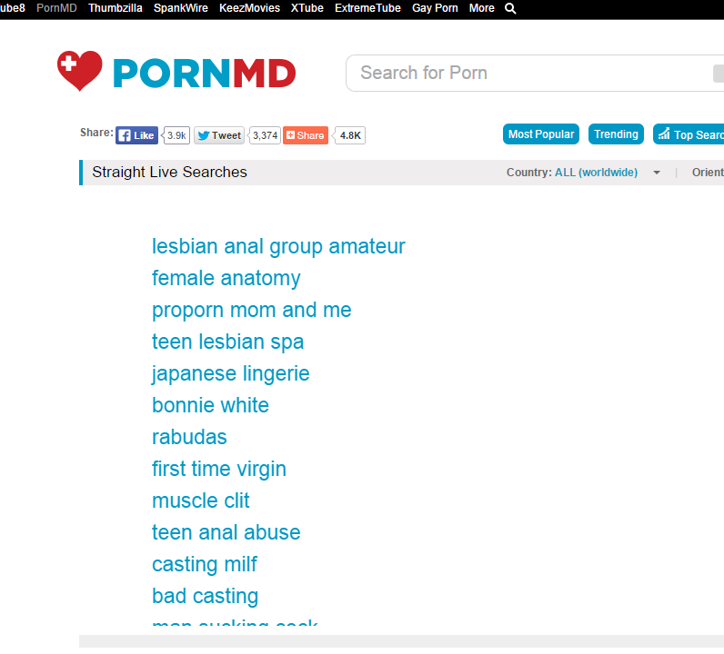 pornmd.c0m PornMD A Search Engine for ALL of the World's  Best Porn Sites.
