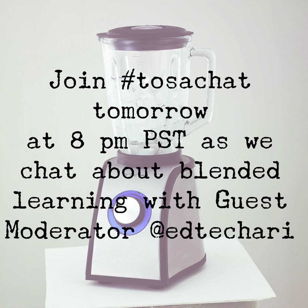 Join #tosachat Monday at 8 PST with @EdTechAri moderating!! @Jyoung1219 @kmartintahoe @KarlyMoura http://t.co/zCxYF5ImS3