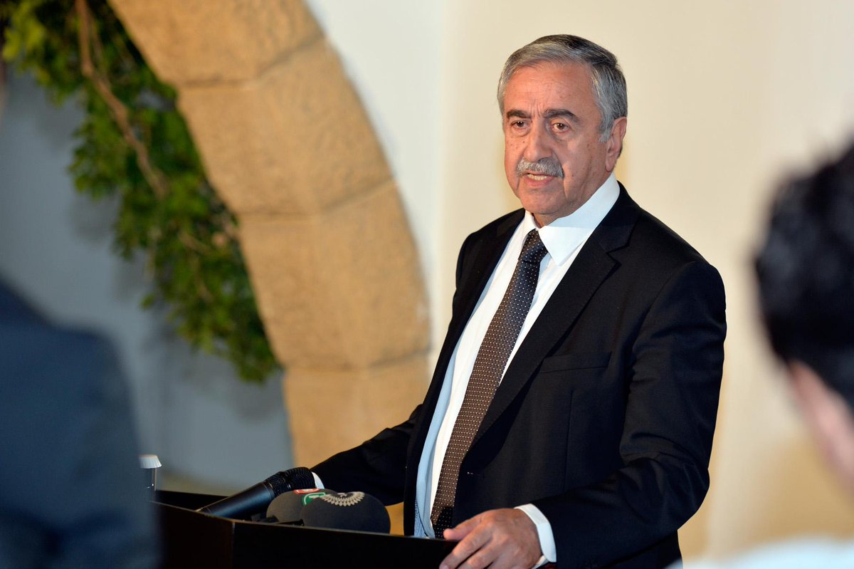 Following tonight's three-and-a-half hour meeting, President Akıncı made statements to the press at the Palace. http://t.co/OovUTQanOb