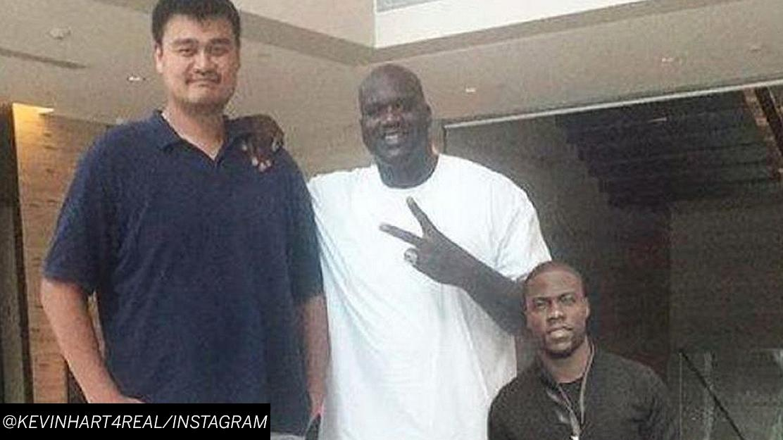 This photoshopped pic of kevin hart & yao ming is funny ...