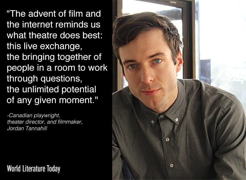 Visiting @UofOklahoma next week for the 2015 #NeustadtFestival, Canadian playwright Jordan Tannahill http://t.co/YdIdZQYdvb