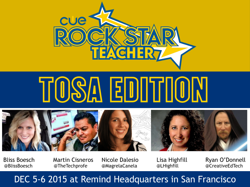 Are you a next level #TOSA? #CUERockStar TOSA still has spots open! #TOSAChat #shamelessplug http://t.co/m3Wz55Ke1m http://t.co/NCvFRn1mnw