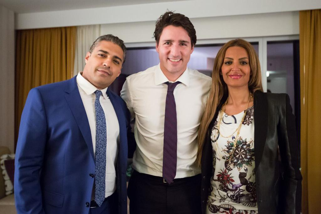My wife and I enjoyed meeting the tireless & inspirational @JustinTrudeau to express gratitude for his support http://t.co/PGTZPxtSEL