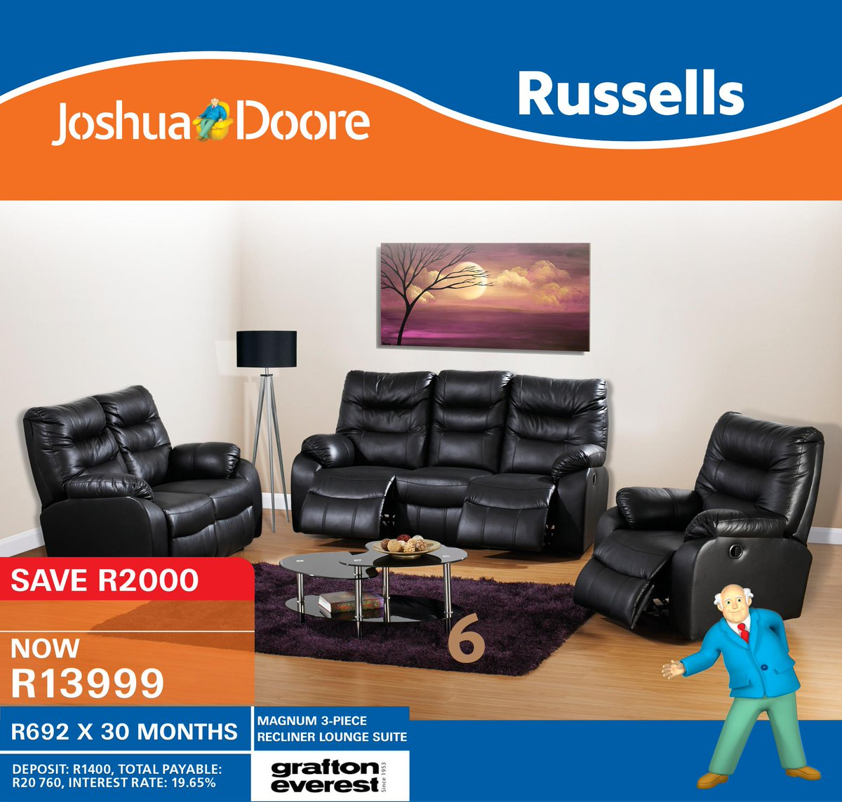 Joshua Doore on Twitter  SAVE R2000 when you purchase this beautiful MAGNUM 3-PIECE RECLINER LOUNGE SUITE! Limited Stock Available* //t.co/eXlELSDHWC   sc 1 st  Twitter & Joshua Doore on Twitter: