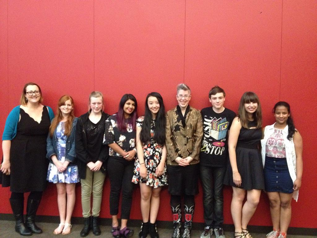 What an amazing #InkyAwards crew! Teen judges from all over Oz and some of the fabulous finalists. http://t.co/vduvT2kE4N