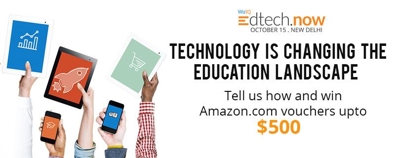 How is Technology changing the way we learn? #WizIQEdtechNow Chance to win upto $500, T&C - http://t.co/kA9uymPPyp http://t.co/YuuxnyqBuA